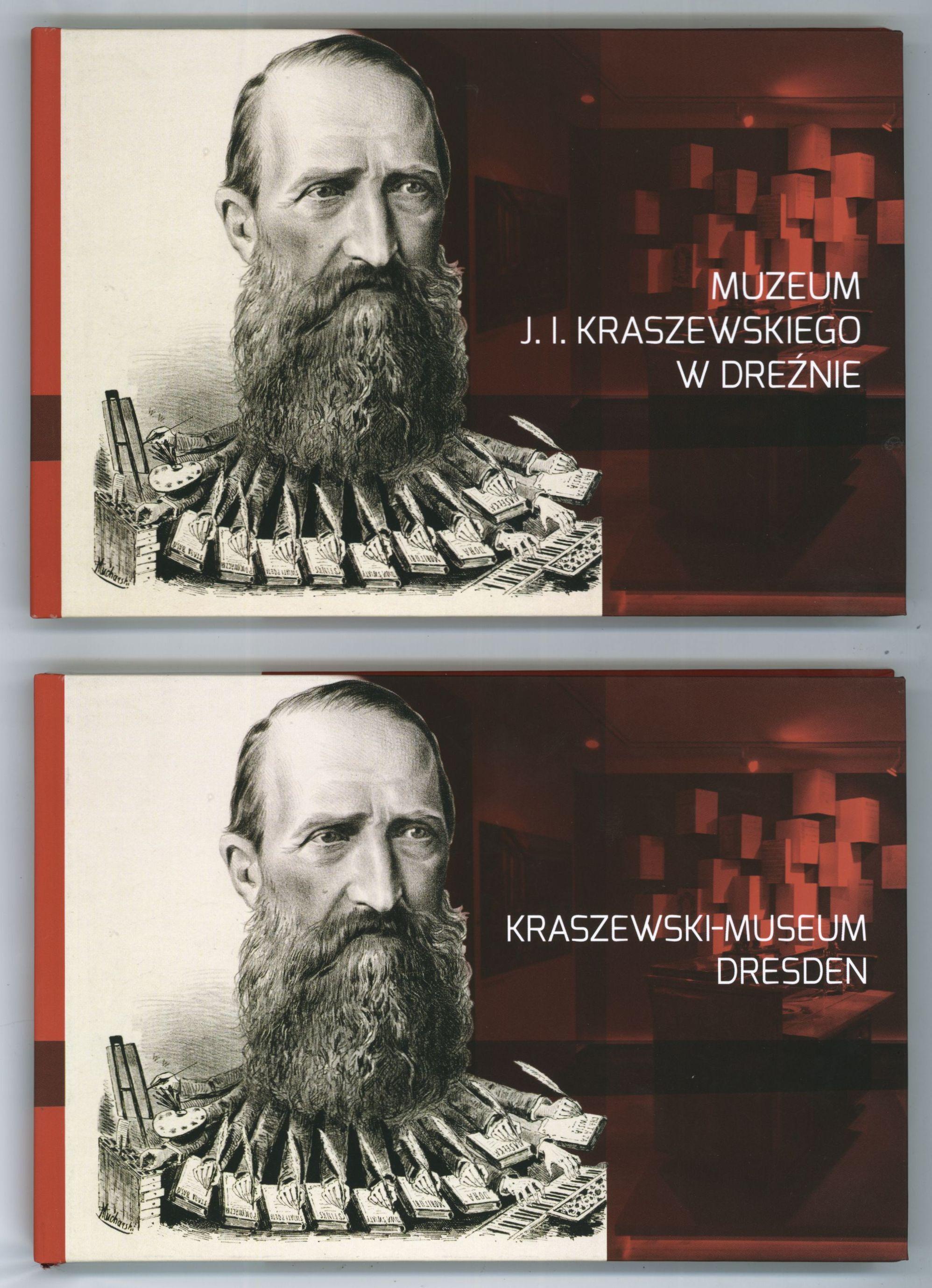Deutsches und polnisches Cover des Museumsführers.